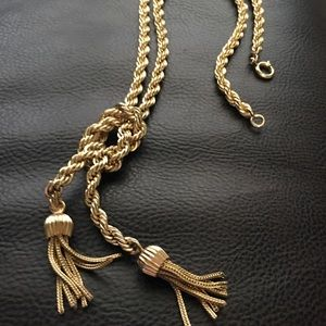 Jewelry - 1940s Tassels Gold Filled 12 k Necklace